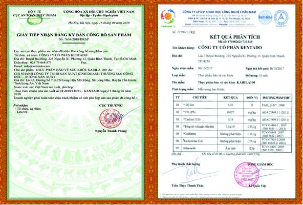 Quy trình sản xuất và giấy chứng nhận an toàn của sản phẩm Karila